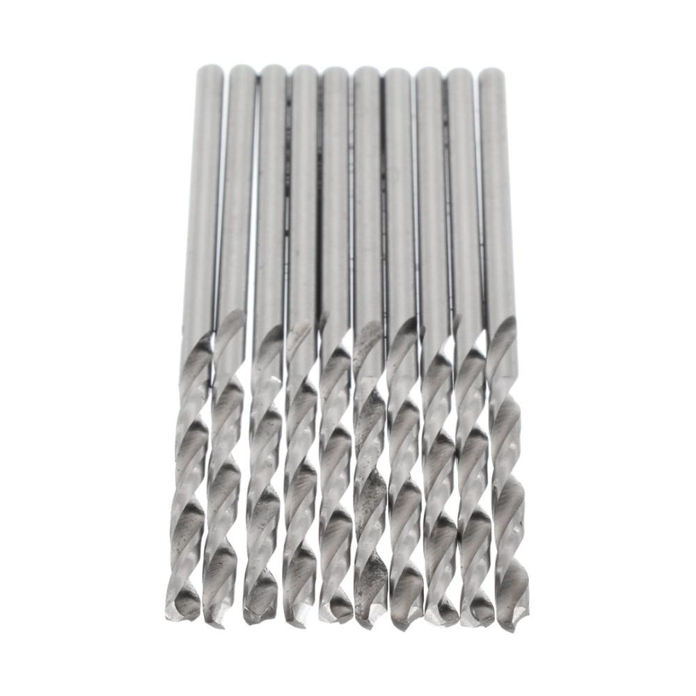 10pcs/Set High Speed Steel Drill Bits Straight Shank Drilling Bit Twist Hand Drill Tool For Woodworking Metalworking 0.5-3mm