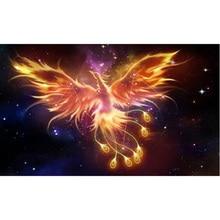 ФОТО 2.8mm golden phoenix seven stars space 5d diamond painting diamond mosaic environmental crafts full diamond embroidery rs257