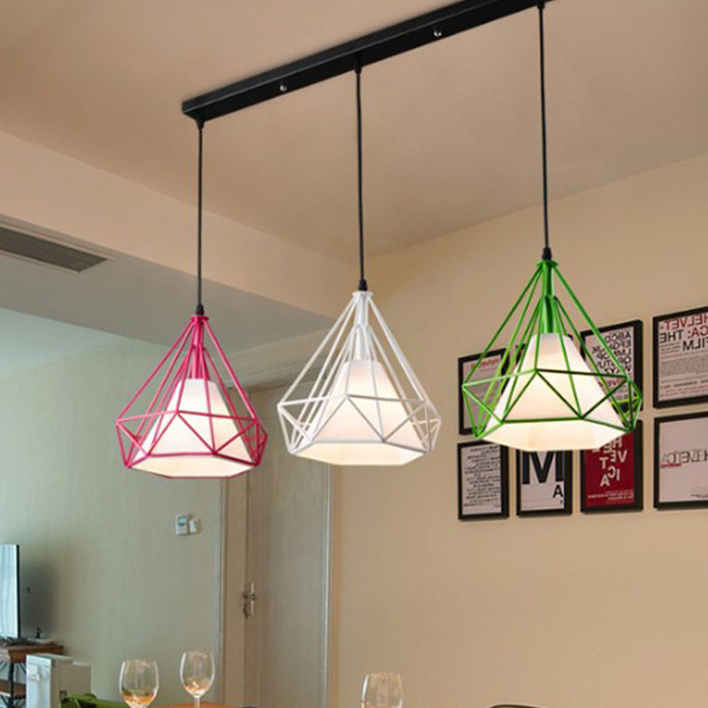 LED pendant light Nordic Europe retro style dinning lamp dinning room living room toggery clothing shop bar counter 1 Heads 50CM