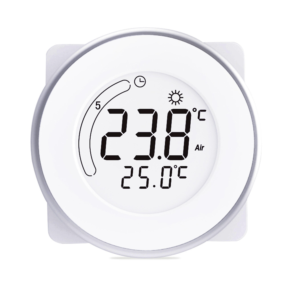 Household Smart LCD Display Heating Thermostat White Backlight Temperature Controller LCD Touch Wall Electric Heater Instrument