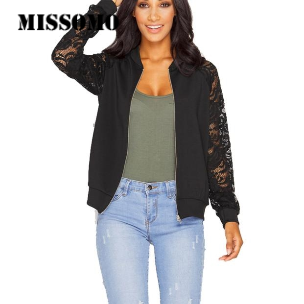MISSOMO Women Clothes 2019 Long Sleeve Lace Coat Suit Casual Jacket Coat Outwear Streetwear Coats And Jackets Women