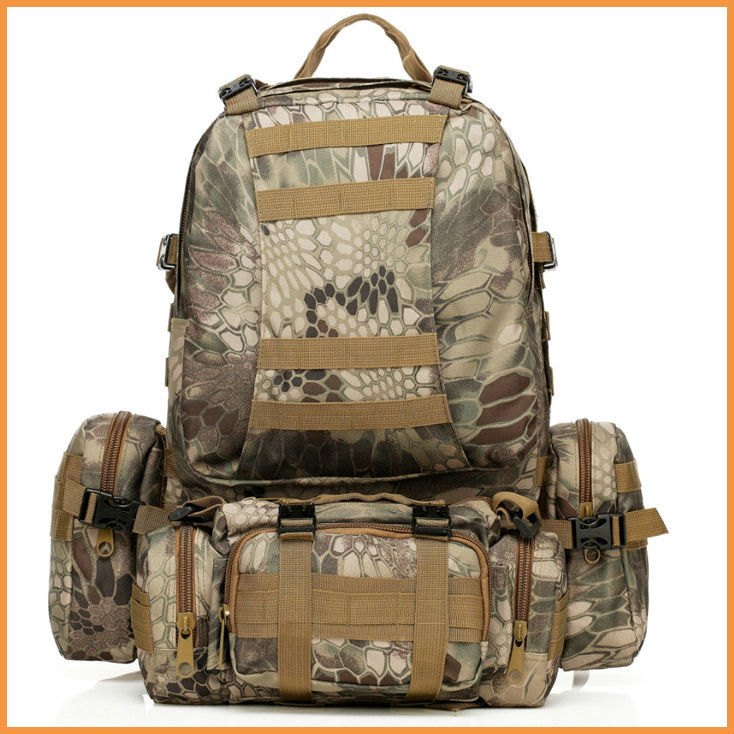 High quality New 50L Molle Tactical Outdoor Military Molle Assault Tactical Backpack Rucksack Hiking Camping Bag