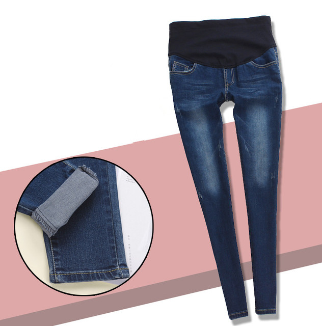 a5fcd8acd11f0 New Elastic Waist Maternity Jeans Pants Pregnant Women Leggings Solid Maternity  Pants Pregnant Clothes for Pregnant