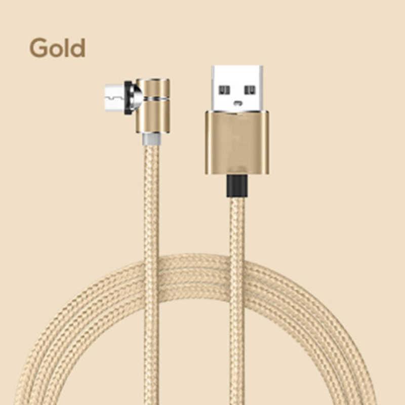 Starplat 90 gradi LED Micro Cavo USB Magnetico Cavo di Ricarica Per iPhone Samsung Xiaomi USB Tipo C Magnete Cavo del Caricatore adapte