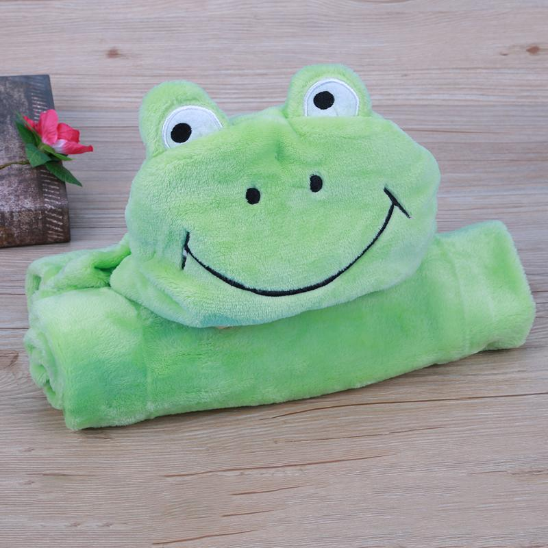 Animal Shape Kid Baby Bath Towel Hooded Bathrobe Infant Plush Cloth Receiving Blanket Children Cartoon Cloak Bathing Towel