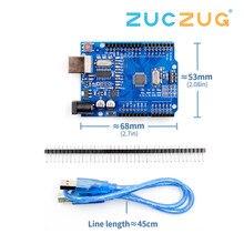 Высокое качество один Комплект UNO R3 CH340G+ MEGA328P Чип 16 МГц для Arduino UNO R3 макетная плата+ USB кабель