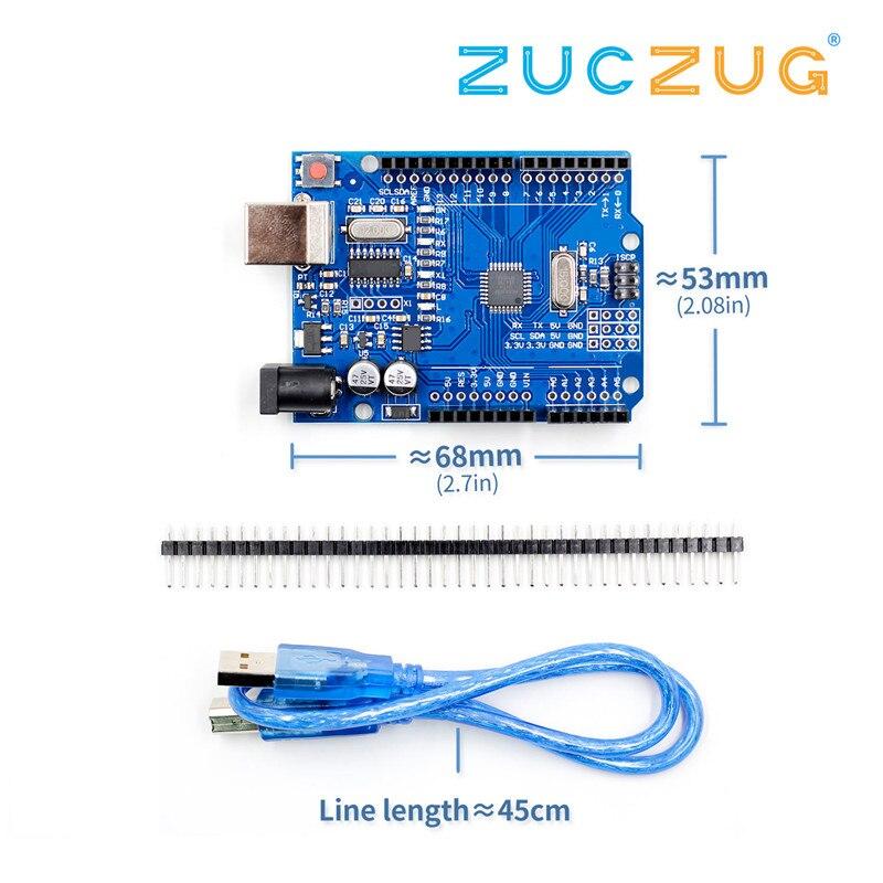 Wysokiej jakości jeden zestaw UNO R3 CH340G + MEGA328P Chip 16Mhz dla arduino UNO R3 pokładzie rozwoju + kabel USB