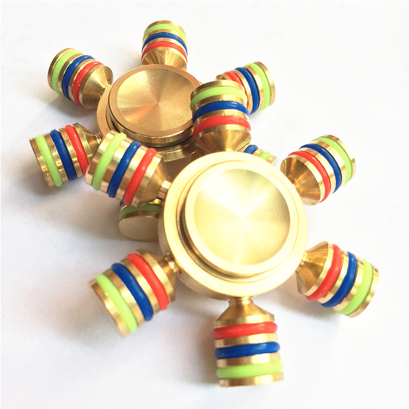 Hot Professional EDC Tri Spinner Fidget Toys Pattern Hand Spinner Metal Fidget Spinner And ADHD Adults