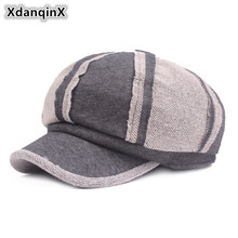 XdanqinX Autumn Winter Womens Cotton Warm Hat Fashion Newsboy Caps New Style Brand Painter Hats Do Old Retro Casual Female