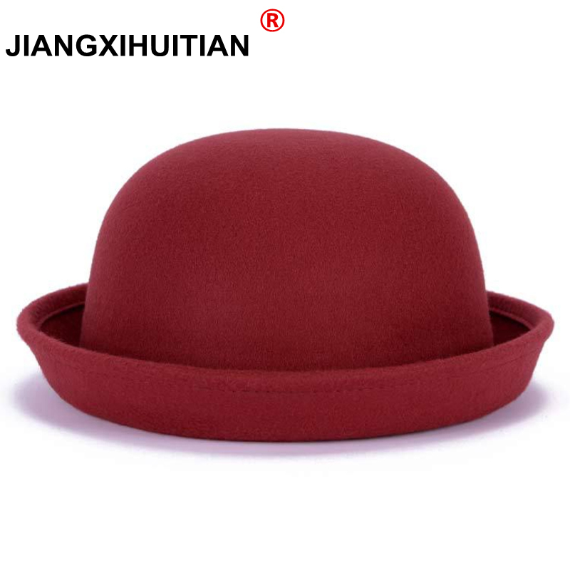 2017 New Fall Winter Fashion Warm Wool Felt Women's Fedoras Hats Retro Vintage Animal Cap Not Deformed Fedoras Caps For Women