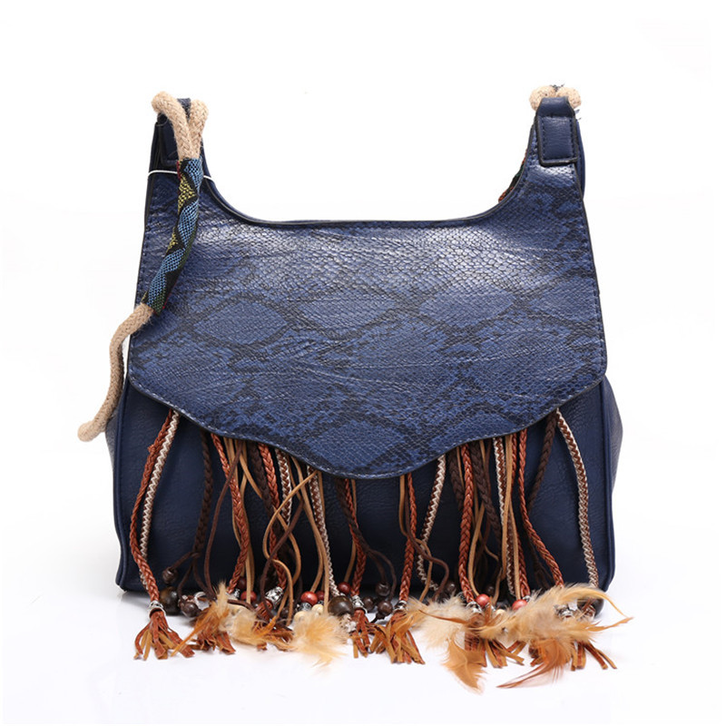 ФОТО Angedanlia tassel ethnic Bohemian women bag Fabric Boho Gypsy handbag Beading Embroidery snake pattern shoulder bag hand bag