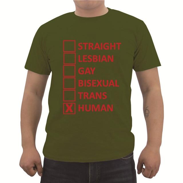 8e4b72686a52 Funny Straight Lesbian Gay Bisexual Trans Human Tolerance T Shirt ...