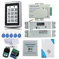 Full rfid metal access control keypad 7612+electric drop bolt lock+power supply+door exit button+remote control+rfid key cards
