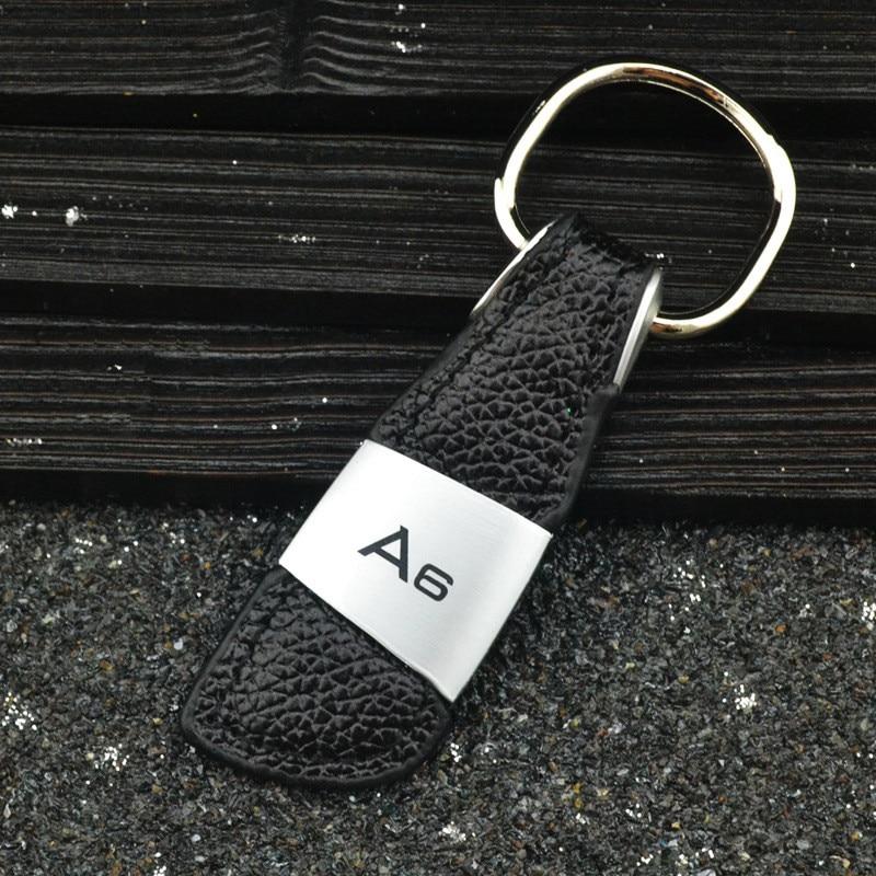 Porte-clés de voiture Accessoires Pour Audi A3 A4 B6 B8 A6 C6 80 B5 B7 A5 Q5 Q7 TT 8P 100 8L C7 8V A1 S3 Q3 A8 B9 S line A7 Style De Voiture