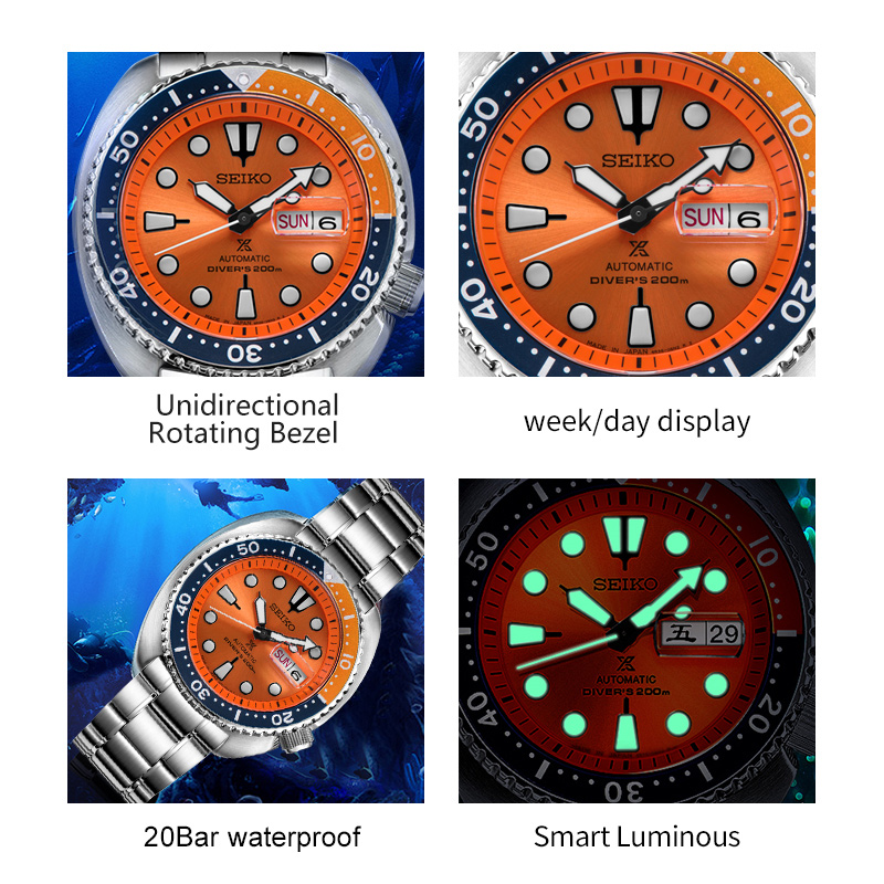Image 3 - 100%Original Official New SEIKO Watch Automatic Mechanical Diver Waterproof  Luminous Men'sWatch Asia-in Mechanical Watches from Watches