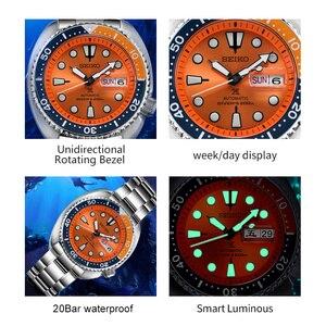 Image 5 - 100% 오리지널 공식 세이코 시계 자동 기계식 다이버 방수 루미 너스 menswatch 아시아
