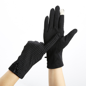 KLV Women Lace Sunscreen Gloves Summer Spring Lady Stretch Touch Screen Anti Uv Slip Resistant Driving Glove Breathable Guantes