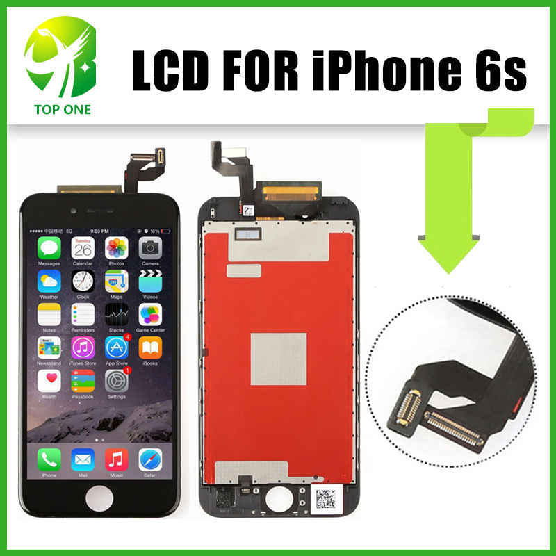 ФОТО Grade AAA++ No Dead Pixel LCD For Apple iPhone 6S LCD Screen Replacement, 3PCS/LOT Fast Shipping via DHL