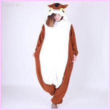 EIGHT UP New coffee orange squirrel  Cartoon pajamas  Unisex animal  jumpsuit costumes все цены