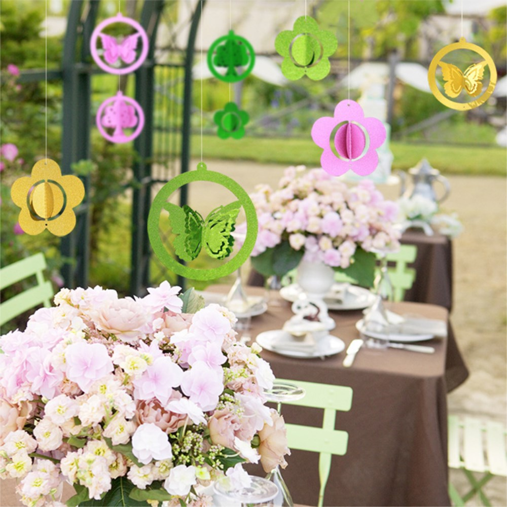 3pcs Laser Cut Butterfly Ceiling Hanging Decorations For