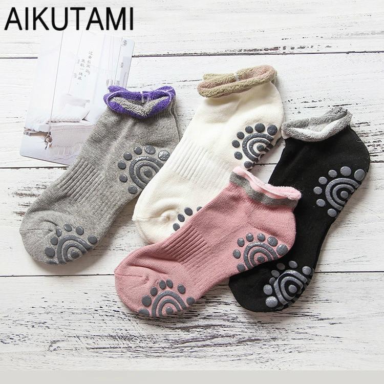 4pairs/Lot Yoga Socks for Women Meia Pilates Cotton Thicker Breathable Non-slip Pilates-socks Yoga Pilates Socks Sport