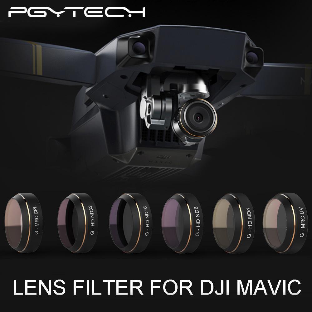PGY G-UV ND4 ND8 ND16 ND32 CPL HD Lens Filters Set for FPV DJI MAVIC Pro Drone 6pcs set pgytech original lens filters for phantom 4 pro drone accessories g hd mcuv nd4 nd8 nd16 nd32 cpl hd filter
