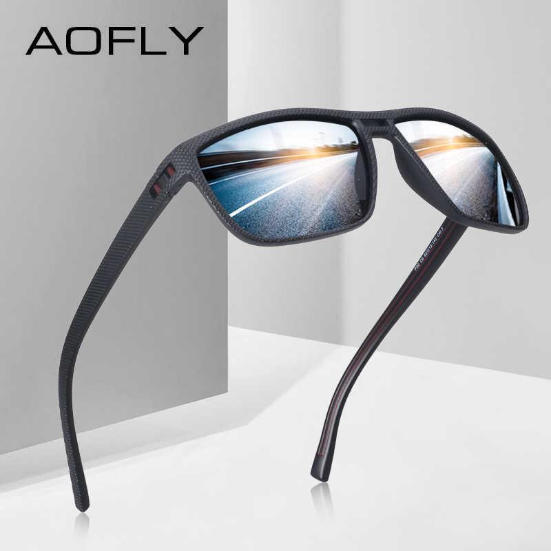 c46c9a20e4f6 AOFLY Модные для мужчин поляризационные солнцезащитные очки для женщин  мужской вождения солнцезащитные очки для мужчин HD