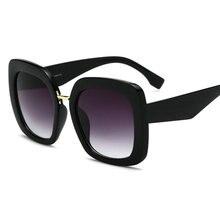 634d1bb14b Gafas de sol cuadradas de gran tamaño para mujer 2018 nueva marca de lujo  gafas de sol de Marco grande Vintage leopardo negro bl.