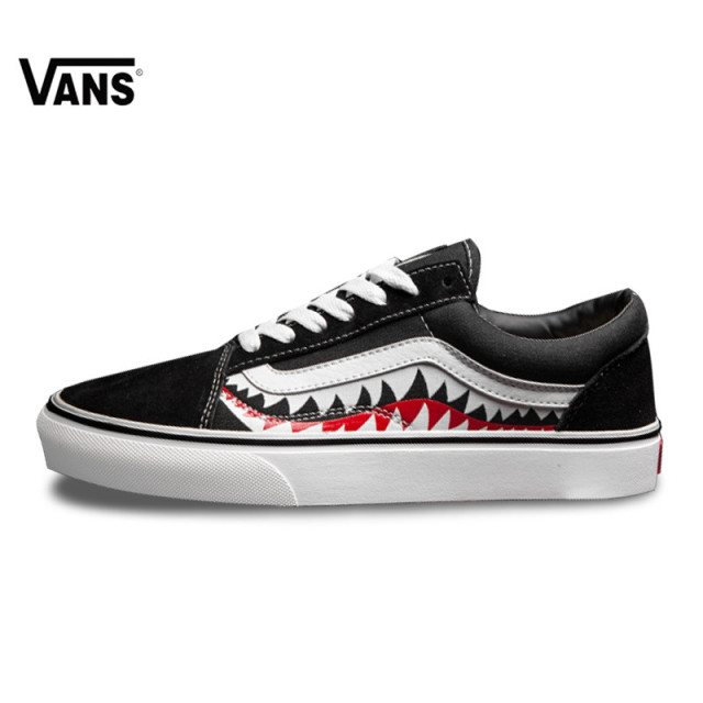 5d2ab1466b Vans X Bape Sharktooth Custom Bape SHARK MOUTHS Men Sneakers Canvas Sports  for Men 4VN000D3HY95 40 44-in Skateboarding from Sports   Entertainment on  ...