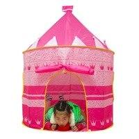 Portable Pink Blue Children Kids Play Tents Outdoor Garden Folding Toy Tent Pop Up Girl Princess