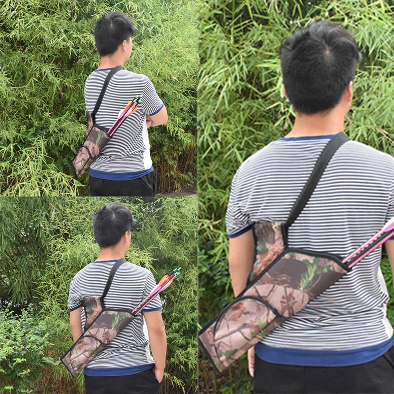Hunting Arrow bag hunting bow bag High Quality adjustable waist camouflage arrow flat Bag Bow Quiver Holder W/Pocket Hunting