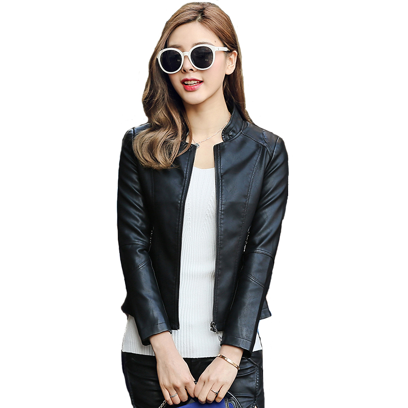 Free shipping real pic New designer Real Leather zipper Jacket Women female lady Spring Autumn Sheepskin