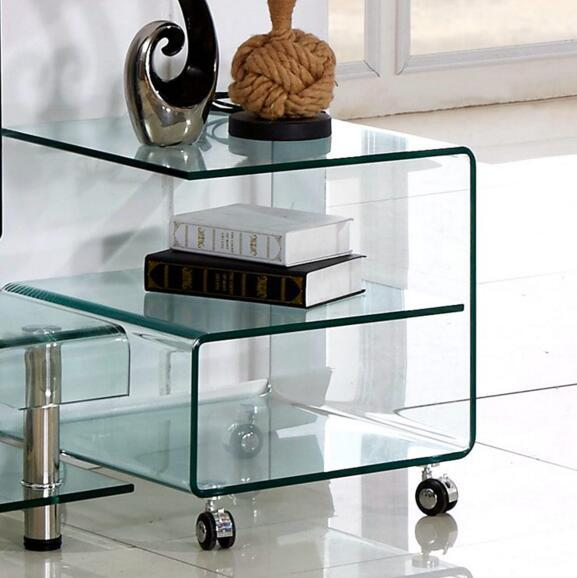 Piccolo tavolo da tè è contratta mini tavolo di vetro piegatura a ...