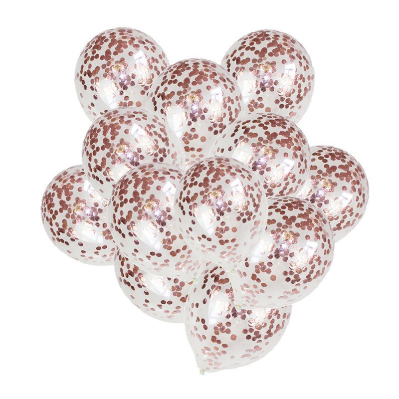 Rose Gold Confetti Balloons Champagne Latex Balloon Wedding Decoration Birthday Party Decoration Supplies Helium ballon Z in Ballons Accessories from Home Garden