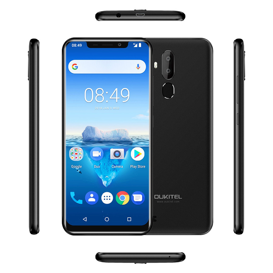 "Oukitel C12 Pro 4g 6.18""19:9 Android 8.1 Face Id 3300mah Mt6739 Quad Core 2gb Ram 16gb Rom 8mp+5mp Fingerprint Mobile Phone #6"