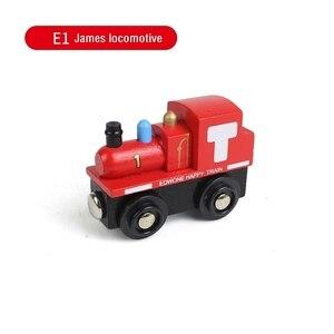 Image 5 - Kids Trein Speelgoed Houten Magnetische Trein James Anime Locomotief Auto Speelgoed Houten Trein Railway Voertuigen Kinderen Verjaardagscadeautjes