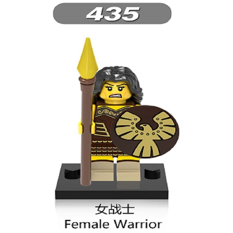 Super Heroes Star Wars Female Warrior Witch Elves Medieval Knights Rome Gladiatus Mini Blocks Toys For Children XH 435