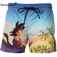 Dragon Ball Z Men Boxers Cargo Shorts Men Swimming Beach