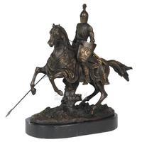 Лошадь Броня средневековой Европейской Классическая Бронзовая скульптура произведения искусства домашние пластиковые украшения подарок