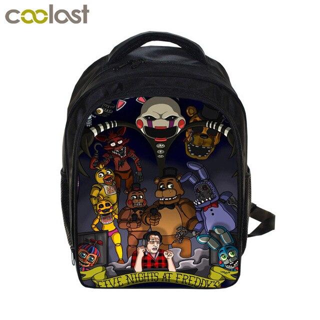Kids Five Nights At Freddys Backpacks Anime Fnaf Backpack Boys S School Bags Children Book Bag