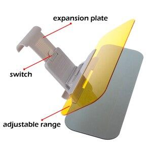 Image 4 - Auto Zonnescherm Dag En Nacht Zonneklep Anti Verblinding Bril Clip On Rijden Voertuig Shield Voor Clear View vizier