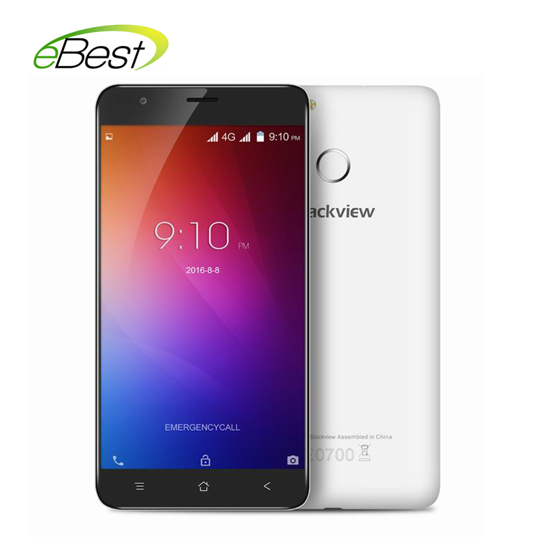 Цена за Новый Blackview E7 4 Г Смартфон Android 6.0 MTK6737 Ouadcore A53 1.3 ГГЦ 1 ГБ + 16 ГБ 8.0MP 2700 мАч Отпечатков Пальцев 5.5 дюймов 720 P Мобильного Телефона