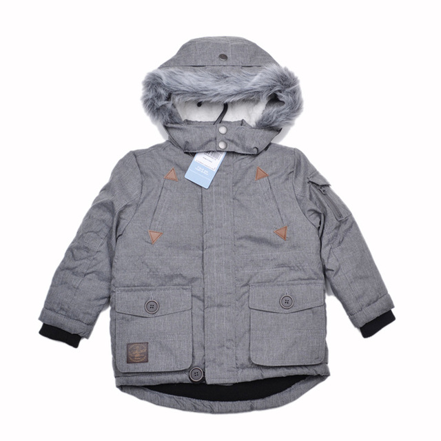 Free shipping- baby boys/toddler grey parka jacket, windproof jacket, spring/autumn jacket w fleece lining, size 9M to 4Y