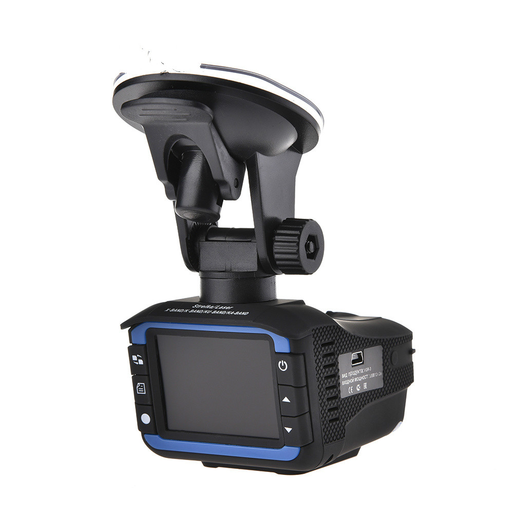 Voiture DVR détecteurs de Radar enregistreur de came détecteur de vitesse russe anglais 2 en 1 caméra Dash Cam fixe/mesure de vitesse de débit