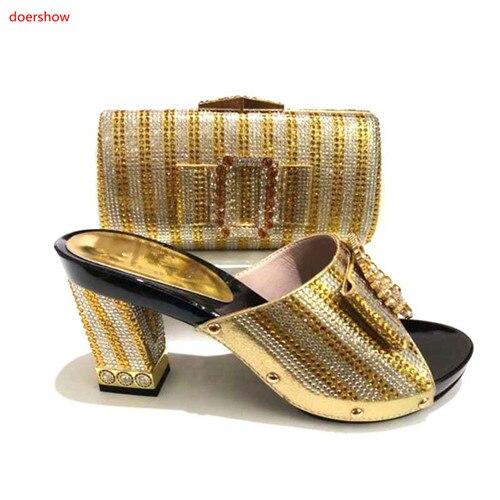 Africaines Partie rose or Shoesfor Femmes Chaussures Set jaune Noir 12 Italienne bleu La Sac Sacs Nigérianes Dans À Doershow Royal Rouge rouge Italien G1 Chaussure Et Correspondant w4zTqT