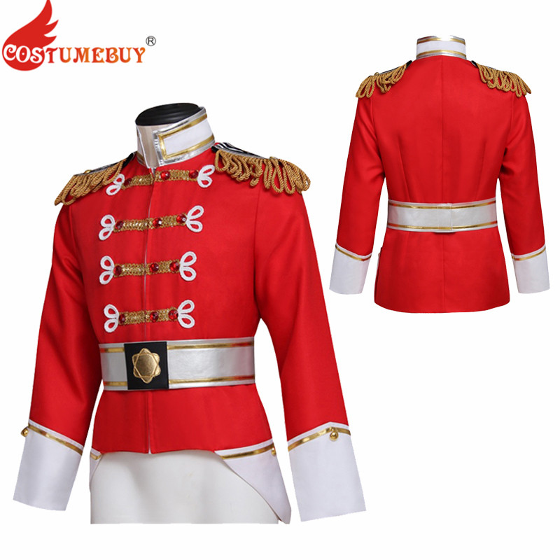 Costumebuy The Nutcracker Prince Eric Cosplay Carnival Halloween Costumes King Nutcracker royal security guard uniform