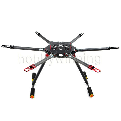 Professional FPV 25mm Pure Carbon Fiber 950mm Hexacopter Multicopter Frame Kit with Landing gear Z25 Folding Arm fittings atg tt x4 12 reptile 4 axis glass carbon folding frame kit with landing gear black