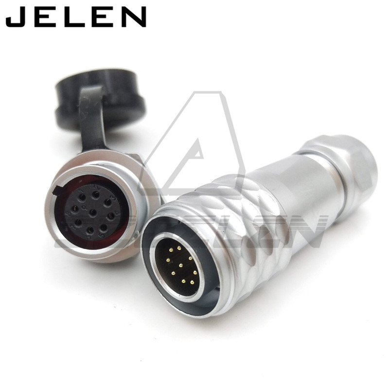 Original WEIPU SF12 series  12mm waterproof connector 9 pin plugs and sockets,  Automotive Connectors, LED Power Connectors,IP67 цена и фото