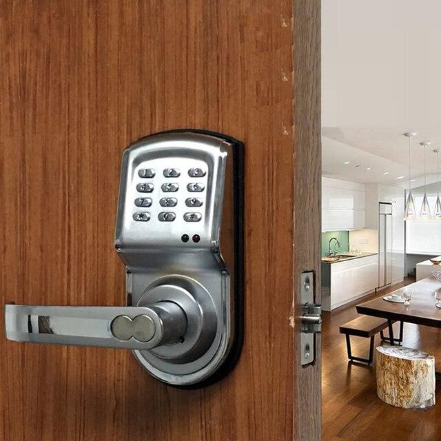 ... Electronic Password Handle Button Door Lock Castle Central Locking