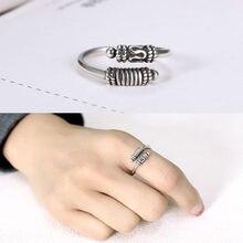 Thai sliver aberto anel ajustável para mulher dedo anel mão acessórios para menina presente feminino
